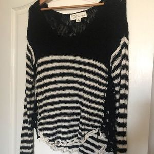 Vintage Havana black and white knit sweater